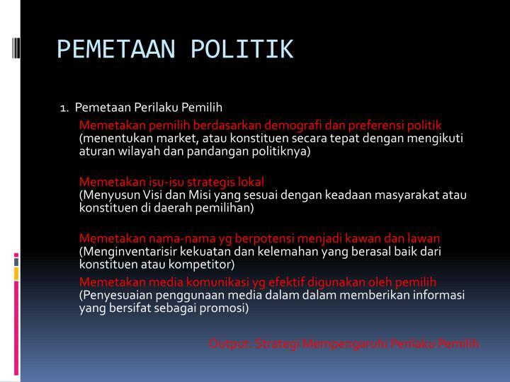 PEMETAAN POLITIK