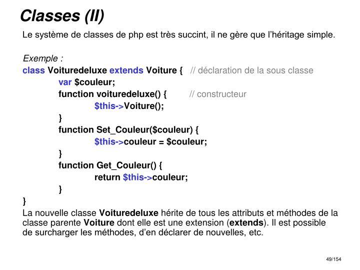 Classes (II)
