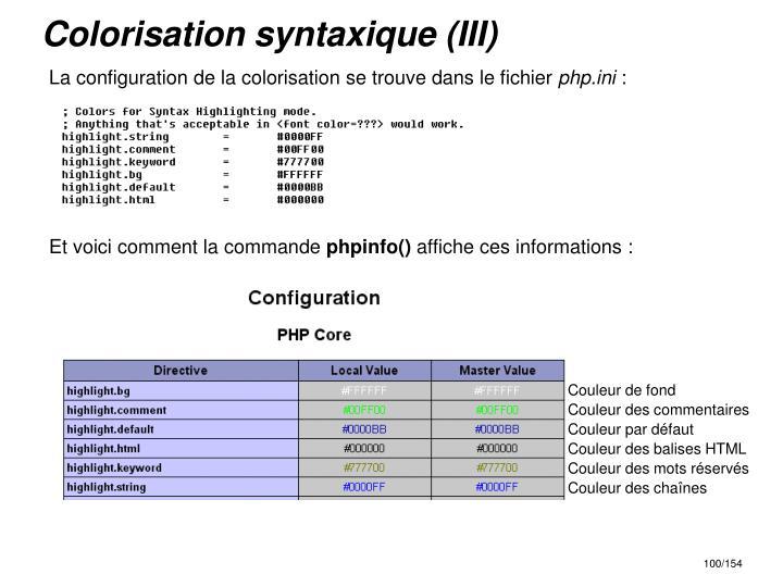 Colorisation syntaxique (III)