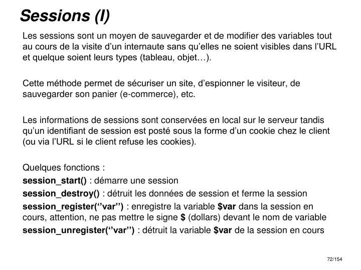 Sessions (I)