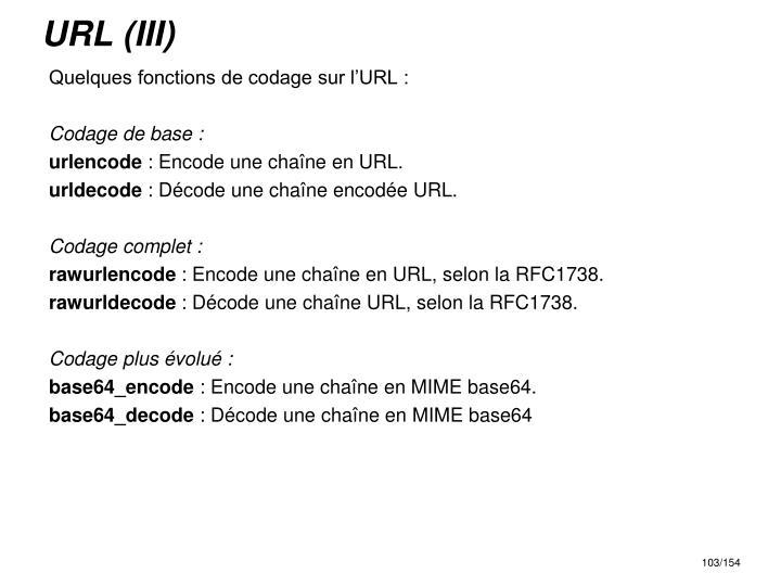 URL (III)
