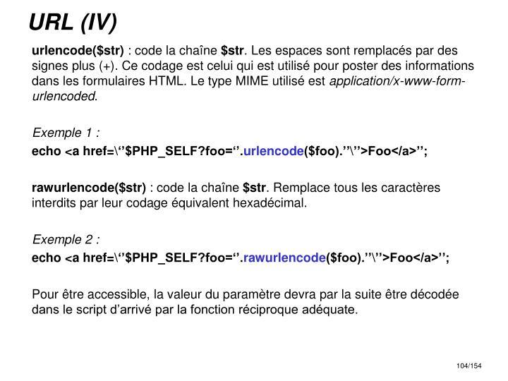 URL (IV)