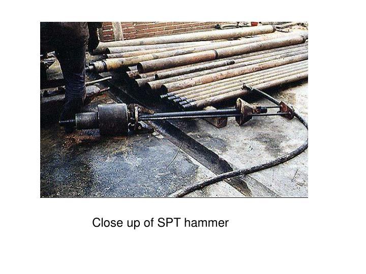 Close up of SPT hammer