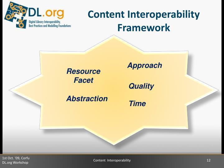 Content Interoperability Framework