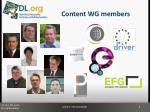 content wg members