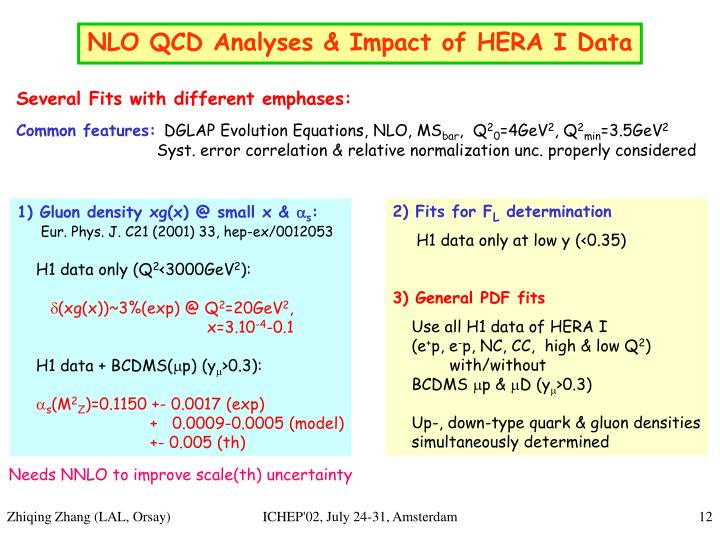 NLO QCD Analyses & Impact of HERA I Data