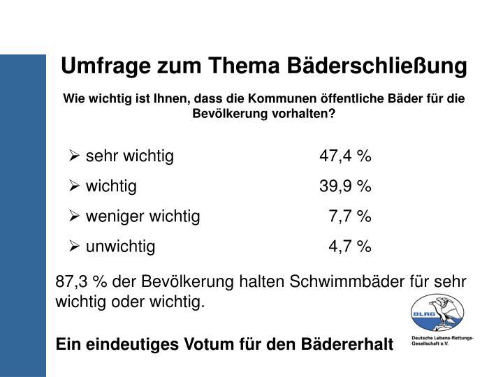 Umfrage zum Thema Bäderschließung