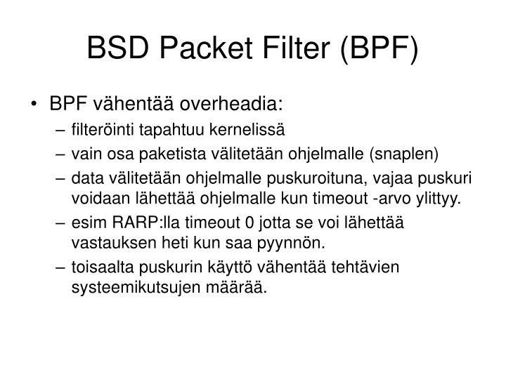 BSD Packet Filter (BPF)