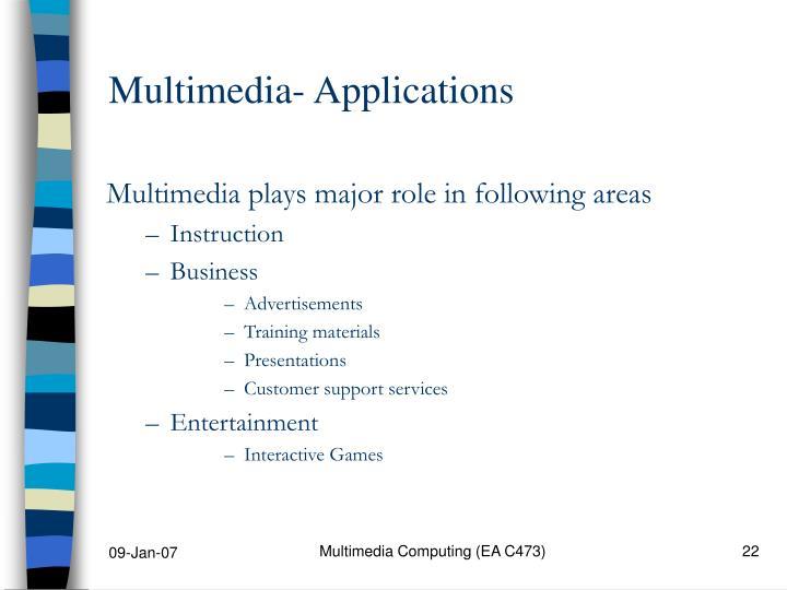 Multimedia- Applications