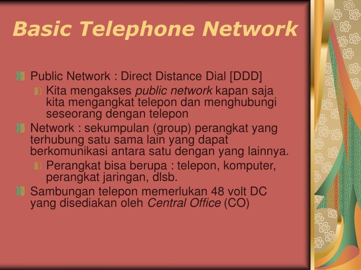 Basic Telephone Network