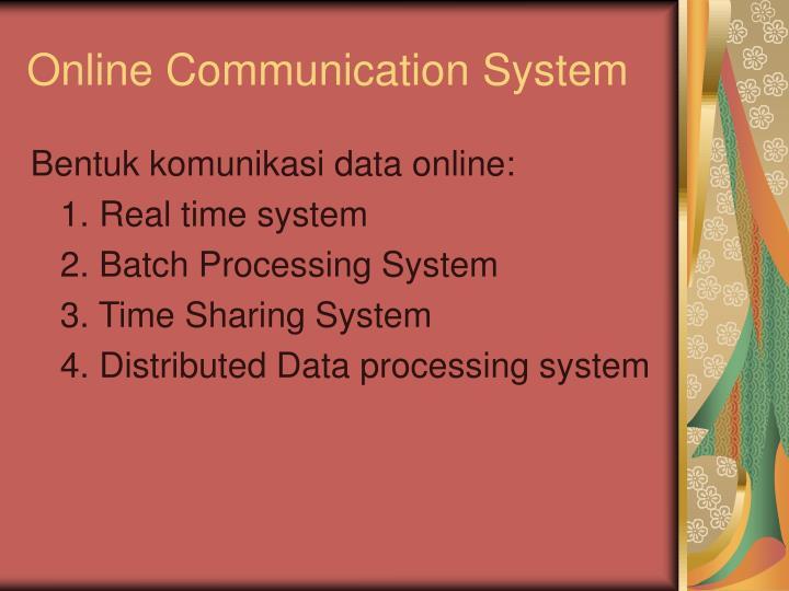 Online Communication System