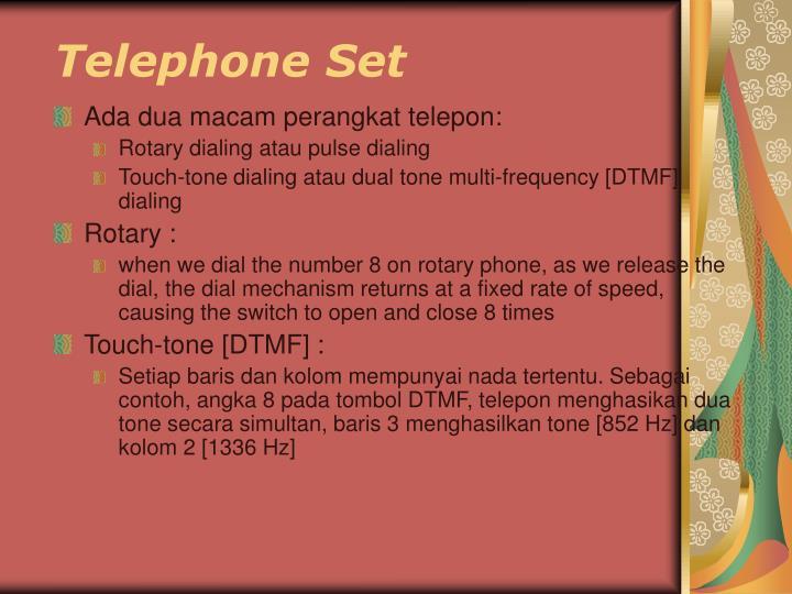 Telephone Set