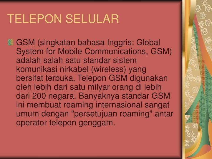 TELEPON SELULAR