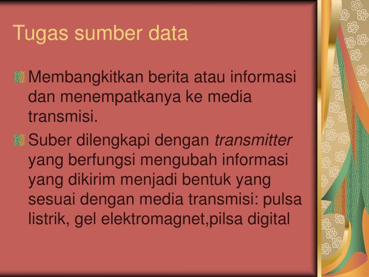 Tugas sumber data