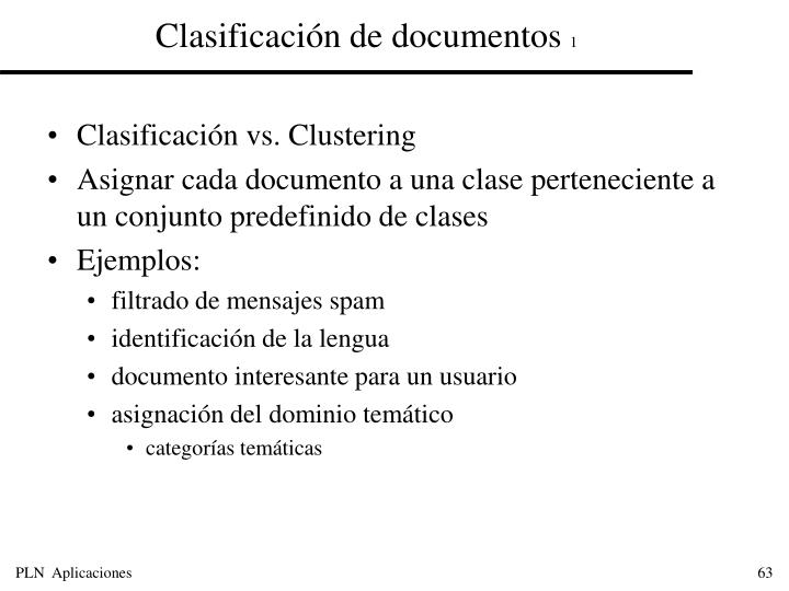 Clasificación de documentos