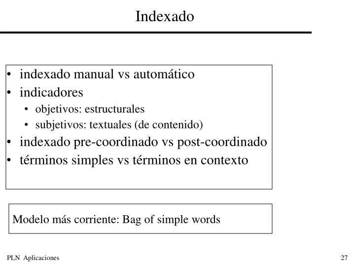 Indexado
