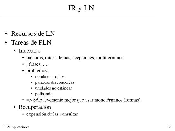 IR y LN