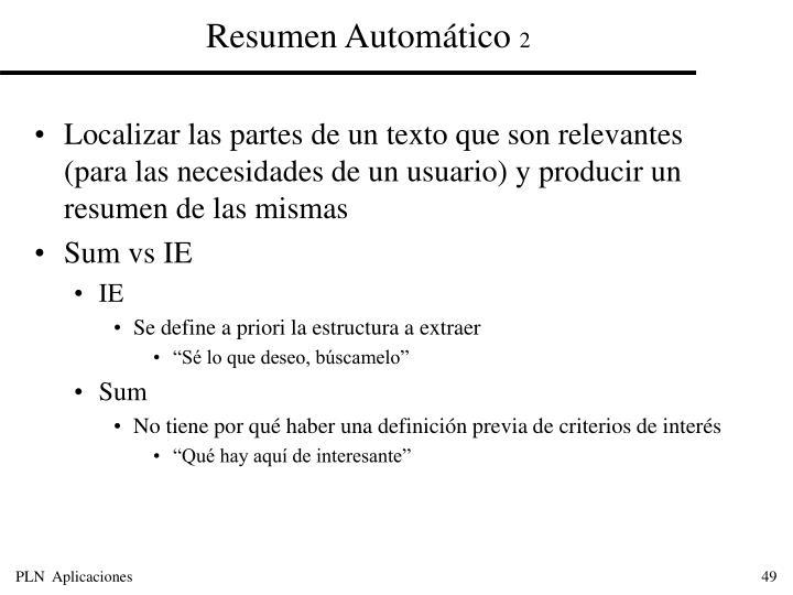Resumen Automático