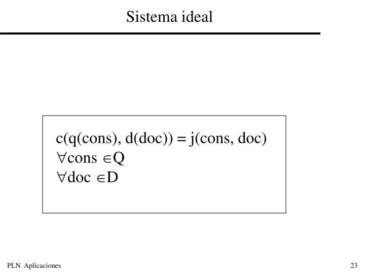 Sistema ideal
