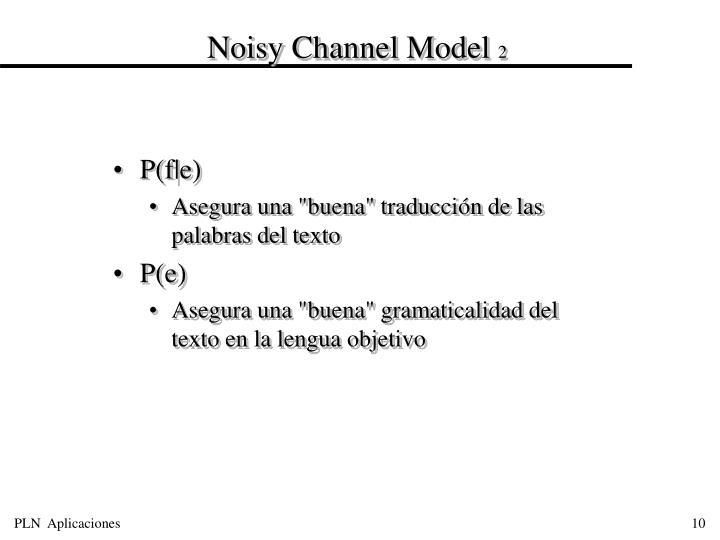 Noisy Channel Model