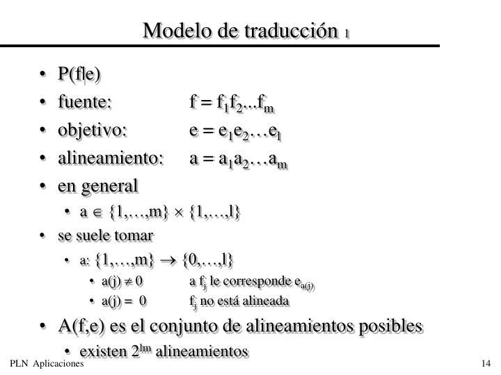 Modelo de traducción