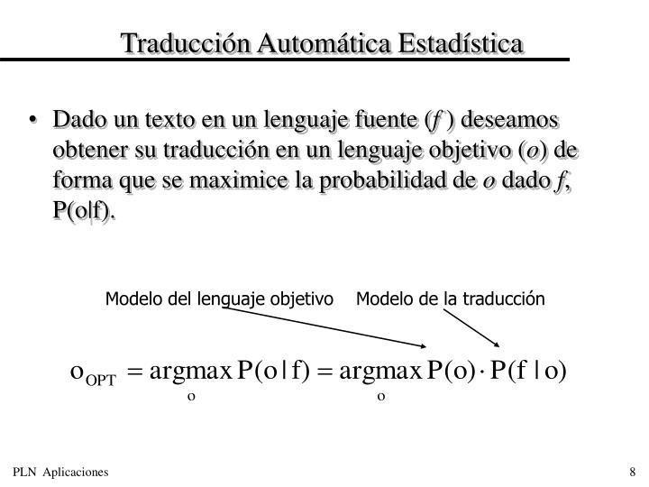 Traducción Automática Estadística