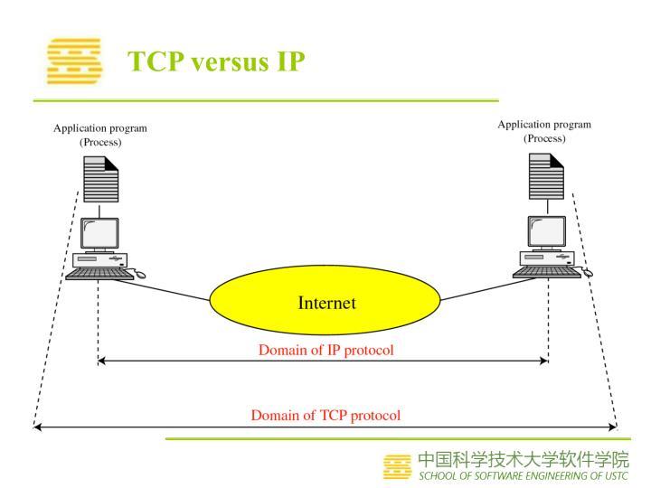 TCP versus IP