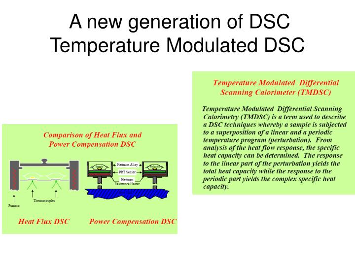 A new generation of DSC