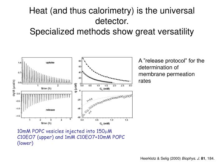 Heat (and thus calorimetry) is the universal detector.