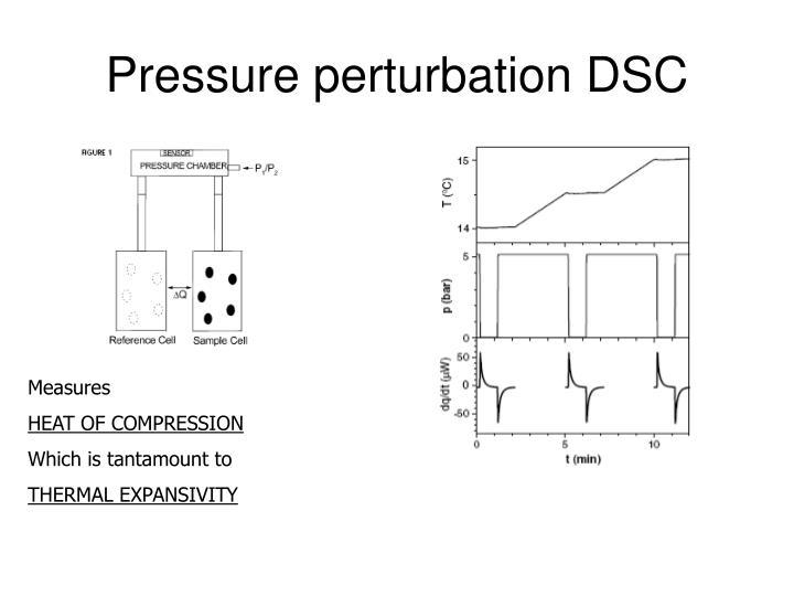 Pressure perturbation DSC