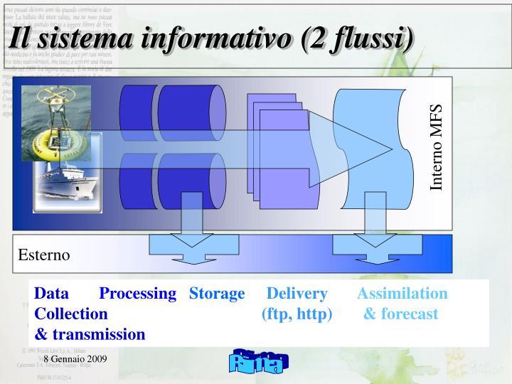 Il sistema informativo (2 flussi)