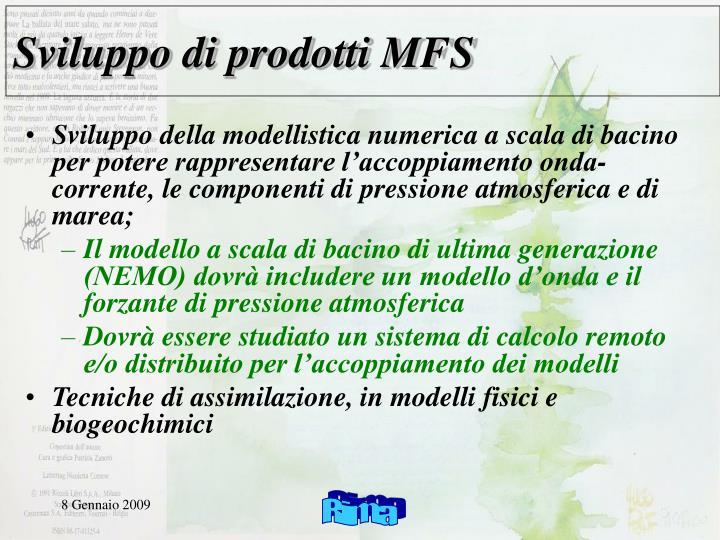 Sviluppo di prodotti MFS