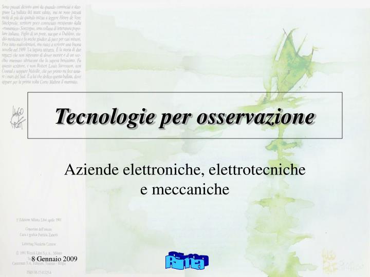 Tecnologie per osservazione