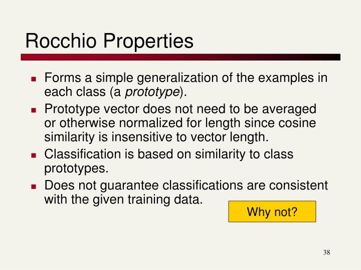 Rocchio Properties