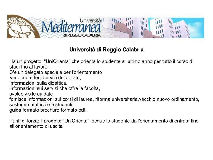 Università di Reggio Calabria