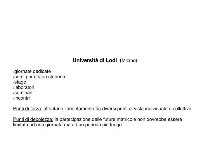 Università di Lodi  (