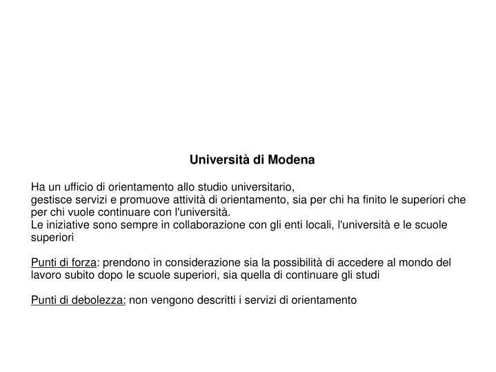 Università di Modena