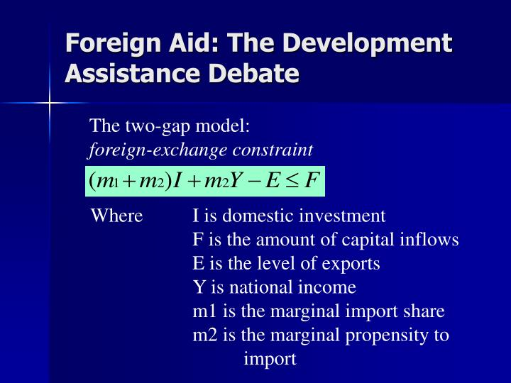 arguments foreign aid Deaton argued that foreign aid can weaken this relationship, leaving a  government less accountable to its people, the congress or parliament,.
