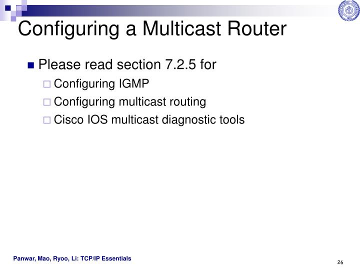 Configuring a Multicast Router
