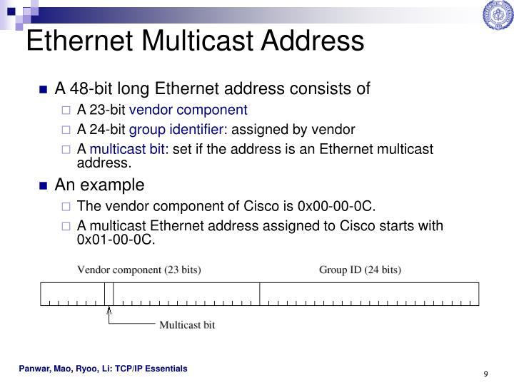 Ethernet Multicast Address