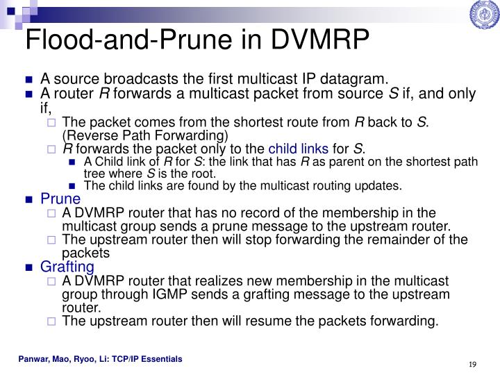 Flood-and-Prune in DVMRP