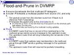 flood and prune in dvmrp