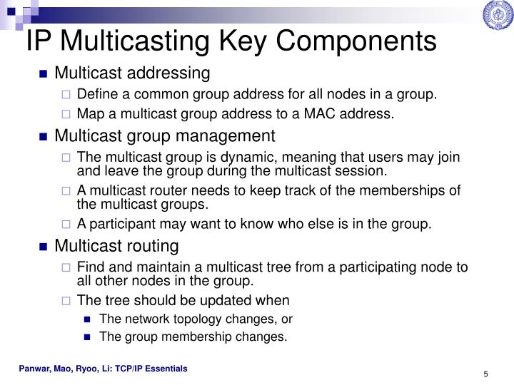IP Multicasting Key Components