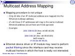 multicast address mapping1