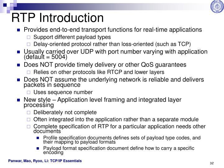 RTP Introduction