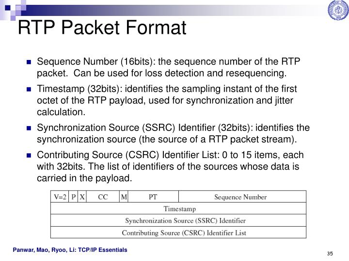 RTP Packet Format