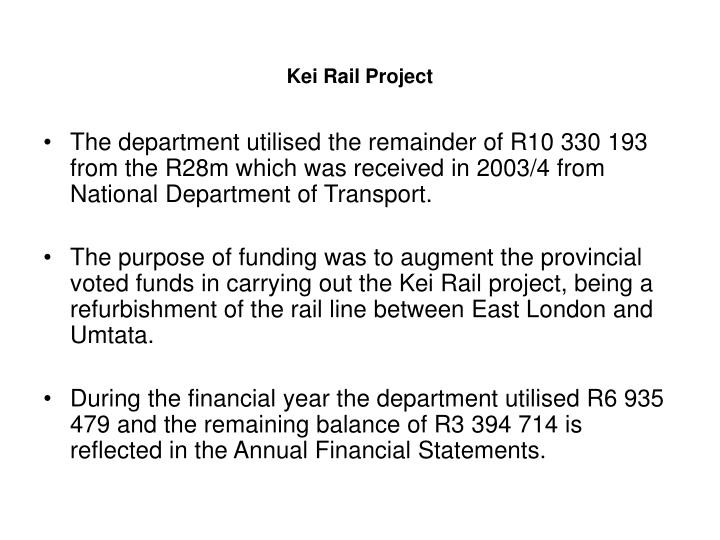 Kei Rail Project