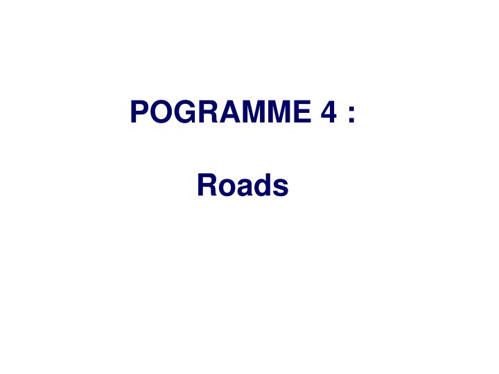 POGRAMME 4 :