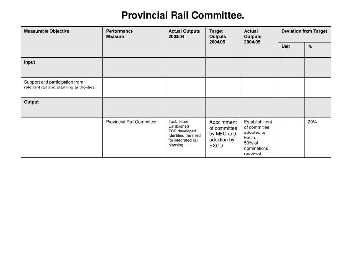 Provincial Rail Committee.