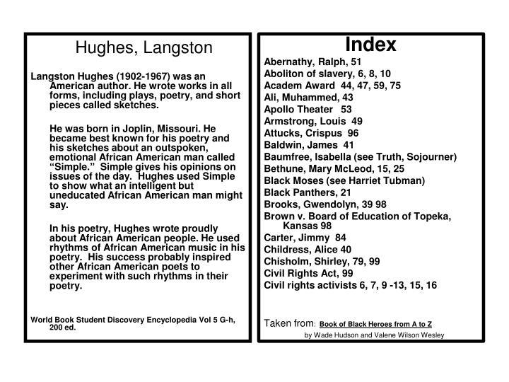 Hughes, Langston